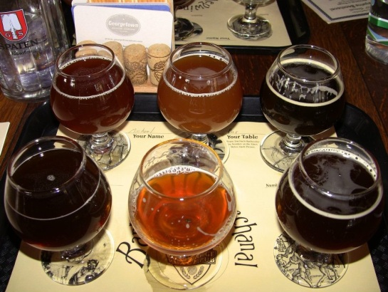 One Of My Taster Trays From The 2012 Barleywine Bacchanal