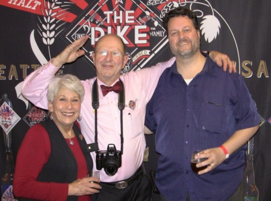 Me With Charles & Rose Ann Finkel - Owners of Pike Brewing