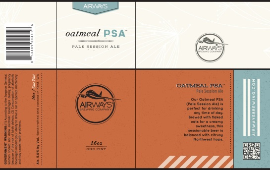 Airways Brewing Oatmean PSA (Pale Session Ale)