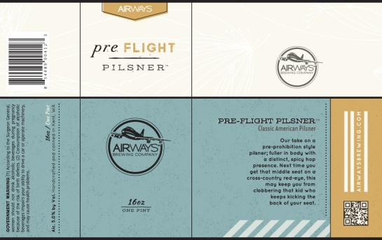 Airways Brewing Pre-Flight Pilsner