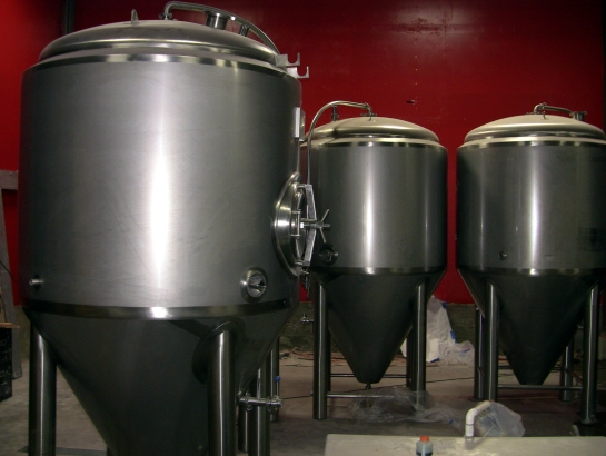 Fermentation Tanks - Waiting To Be Placed