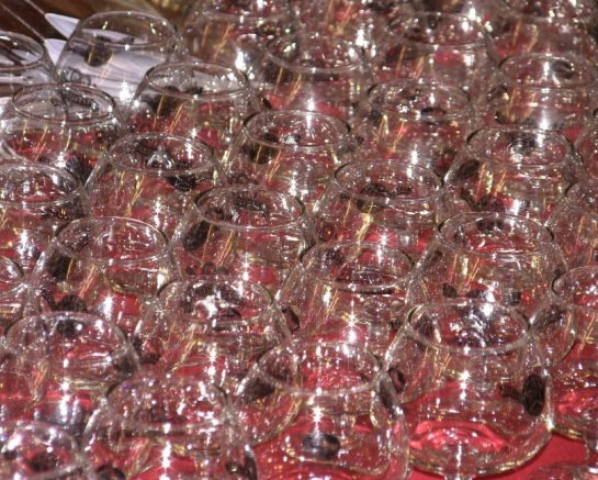 Chocofest 2013 Taster Glasses Ready To Be Handed Out