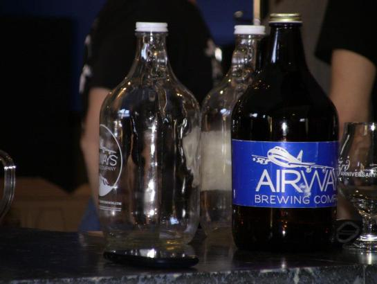 Airways Brewing Growlers Waiting To Be Filled