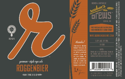 The Label For Reuben's Brews' Roggenbier