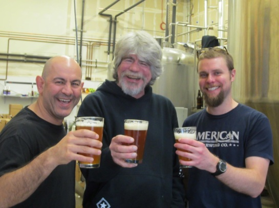 Simon, Skip & Dan At Black Raven Brewing