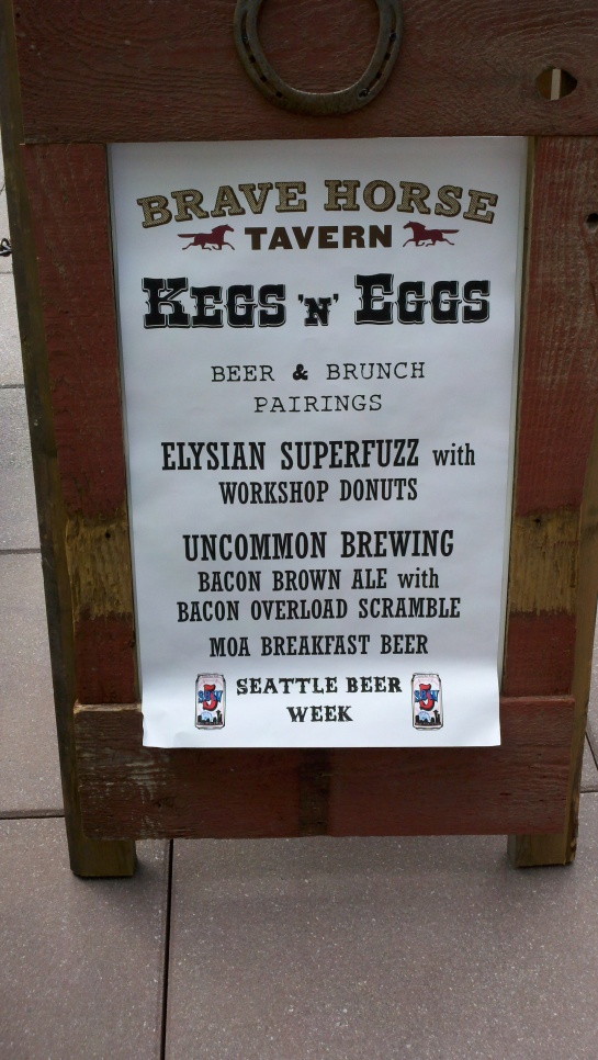 Kegs n' Eggs At Brave Horse Tavern For Mother's Day During Seattle Beer Week