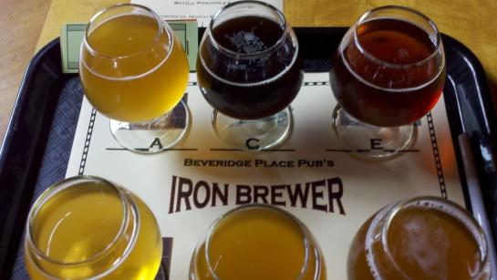 My Iron Brewer Pro Tripple Header Taster Tray