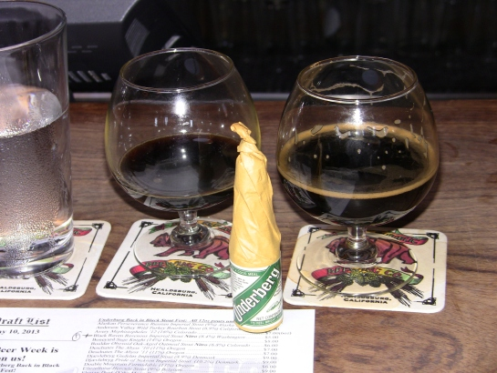 Firestone Walker PNC Buckwheat Stout & Lost Abbey Brandy Barrel Santa's Little Helper '12 At The Underberg Back In Black Stout Fest