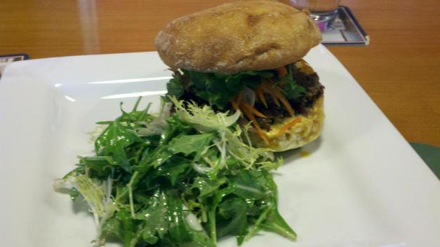 Braised Pulled Goat Sandwich With Mediterranean Spices At Schooner Exact