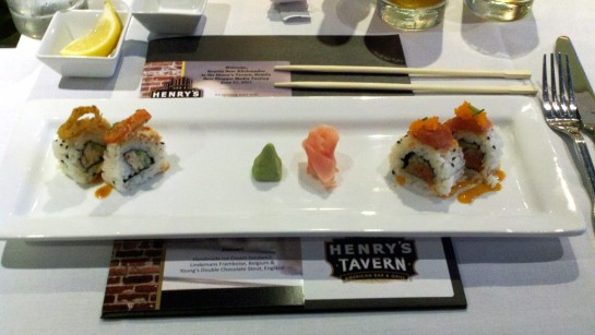 Crab Avocado Roll and Spicy Ahi Tuna Roll