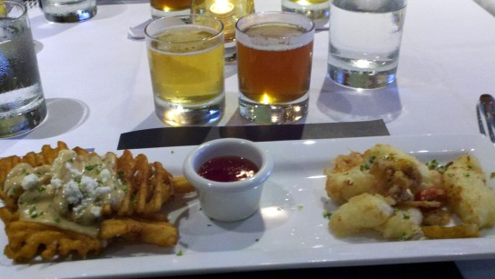 Gorgonzola Fries and Fried Wisconsin Cheddar Cheese Curds