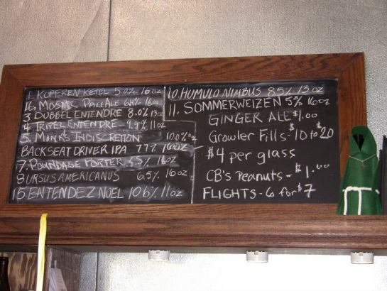 The Day's Tap List At Sound Brewery