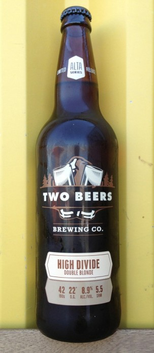 Two Beers' 2013 High Divide Double Blonde Ale
