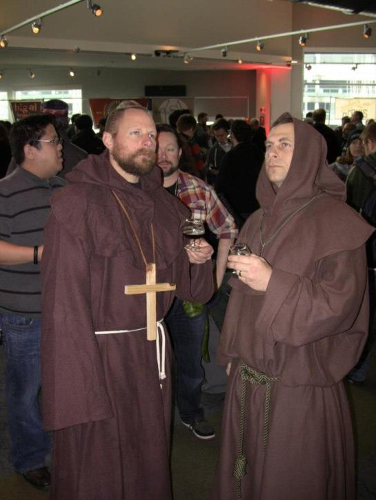 A Couple Of Trappist Monks Enjoying Belgianfest 2013