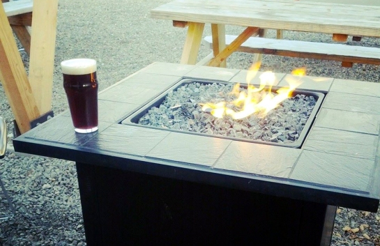 The Fire Pit Table At Populuxe Brewing