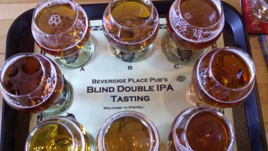 One Of My Blind Taster Tray's From Last Year's IPApril