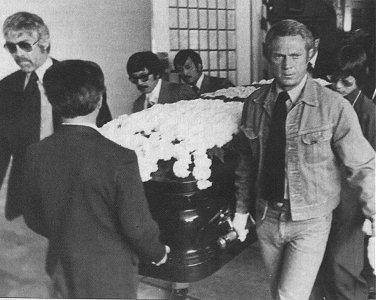 Bruce Lee's Funeral In 1973 - The Casket Is Being Carried Out To What Is Now The Pine Box's Patio