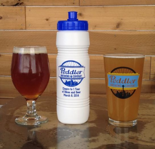 Peddler Brewing Company's 1 Year Anniversary Water Bottle