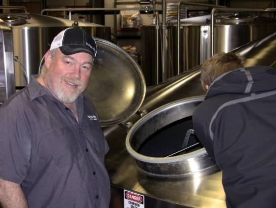 Don Webb From Naked City Checking On The Mash During The Brewing Of Six Degrees of Collaboration