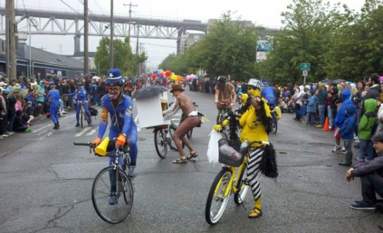 Body Painted Cyclists