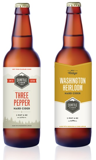 Seattle Cider Company Three Pepper Cider & Washington Heirloom Cider