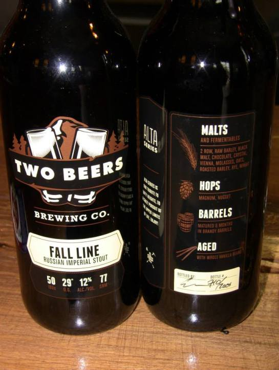The 2014 Release Of Fall Line Russian Imperial Stout At The Woods