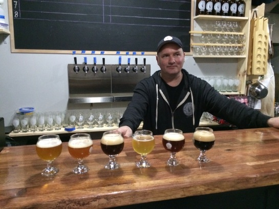 Outer Planet Brewing's Head Brewer, Jim Stoccado, And Some Of His Work