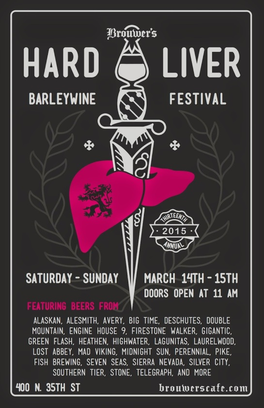 The Poster From Last Year's 13th Annual Hard Liver Barleywine Festival