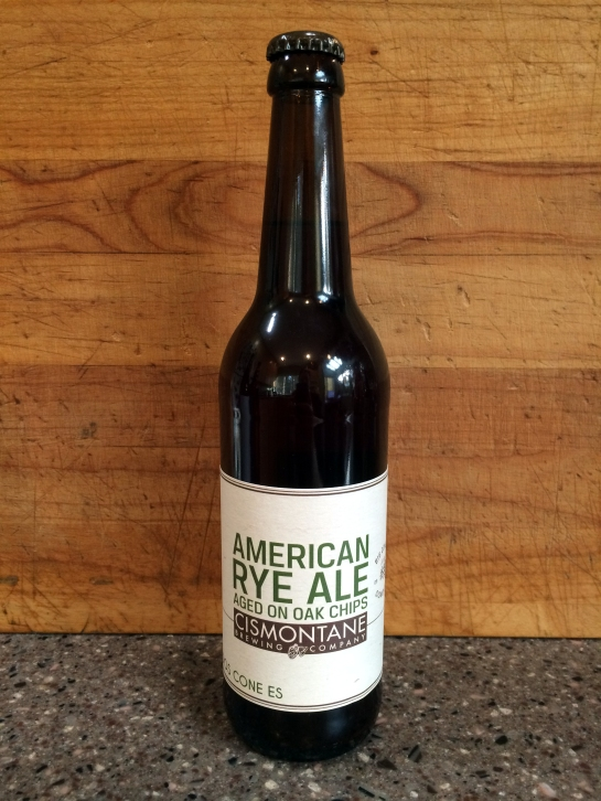 Cismontane Brewing - American Rye Ale Aged On Oak Chips