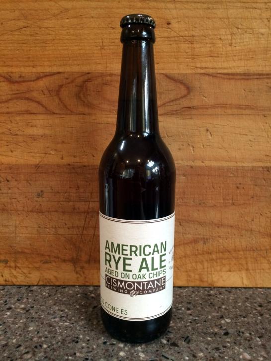 Cismontane Brewing - American Rye Ale Aged On Oak Chips
