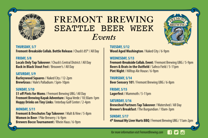 A Look At Fremont Brewing's Other Events For Seattle Beer Week #7