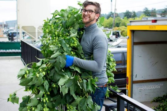 The Woods' Tap Room Manager Dan Armerding, Unloading Hops From The Truck