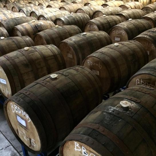 Barrels Of B-Bomb Preparing For Blending Last Month