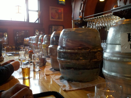 Casks On The Bartop At Beveridge Place Pub