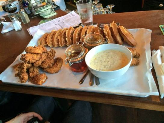 The Over-The-Top Chicken And Waffles From Burgundian's 2nd Anniversary