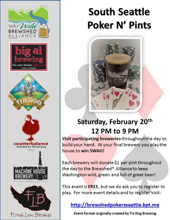 South Seattle Poker N Pints Poster
