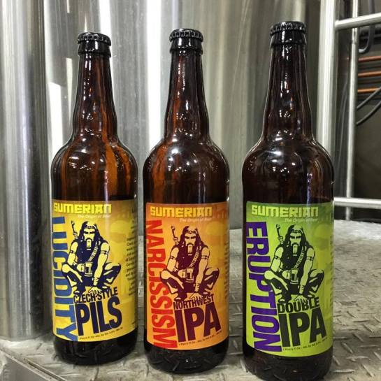 Sumerian Brewing's First Bottled Beers