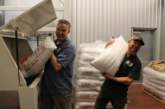 Vinnie And Matt Loading The Grains For STiVO