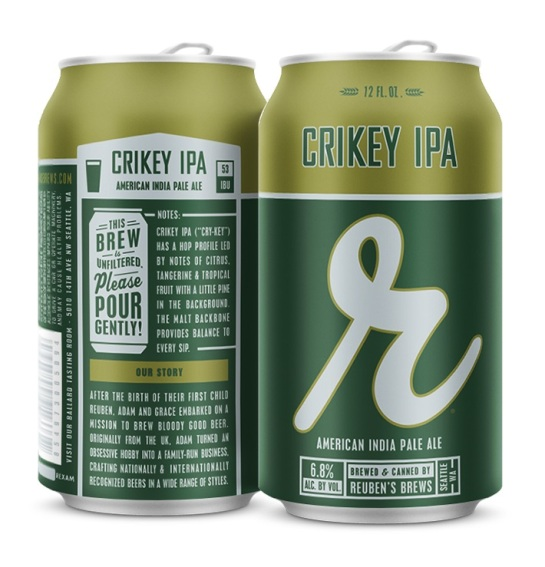 Reuben's Brews Crikey IPA 12 oz Cans