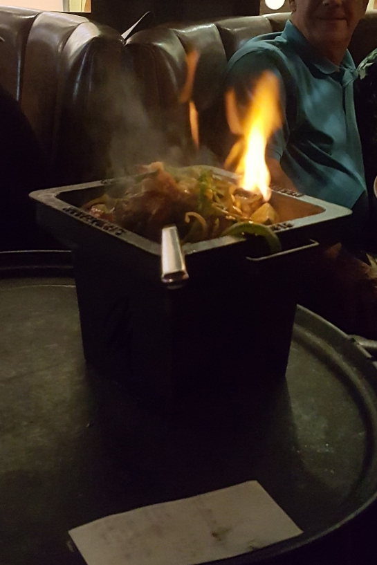 Moctezuma's Tequila Flaming Fajitas