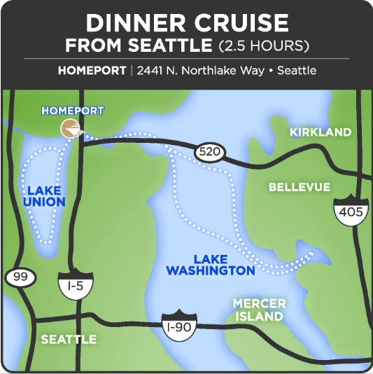 Beer Pairing Dinner Cruise Route Map