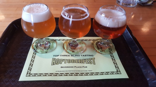 My Hoptoberfest Final 3 Taster Tray