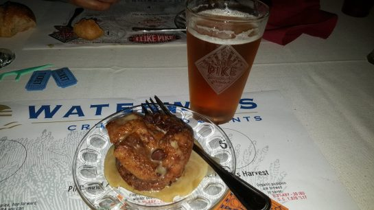 Chocolate Bread Pudding Paired With Pike Vita Golden Coffee Ale