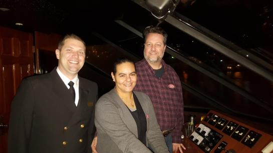 My Wife, Lynn, And I One The Bridge With The Captain