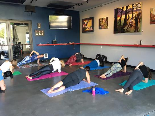 A Pilates & Pints Class At Lucky Envelope Brewing