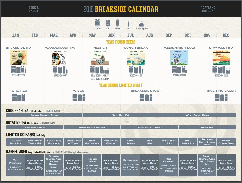 Breakside Brewing Reveals Their 2018 Release Calendar | Craft Beer ...